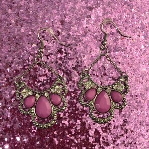 Jewelry - Pink and silver earrings